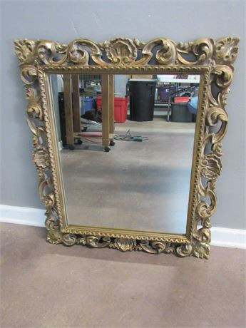 Ornate Gold Finished Mirror