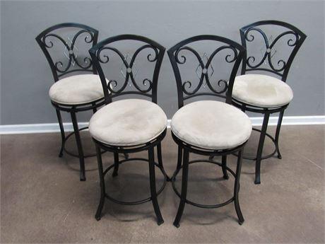 4 Hillsdale Furniture Metal Swivel Bar Stools