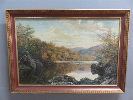 Mid-Century Scenic Shoreline Art Print