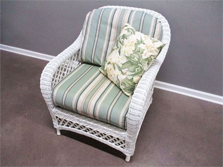 HENRY LINK WICKER ARM CHAIR