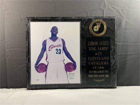 LeBron James Cavs Basketball Plaque