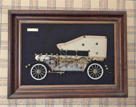 1903 Pontiac Framed 3D Wall Art