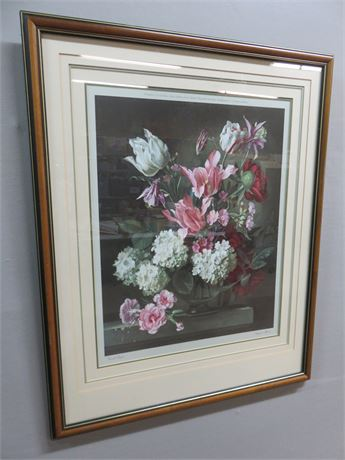 "1977 GERALD COOPER ""Fragrant Blooms"" Lithograph Print"