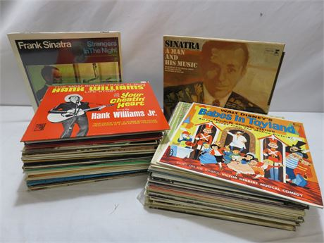 Over 70 Vintage Record Albums