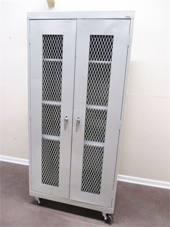 SANDUSKY HEAVY DUTY METAL STORAGE CABINET