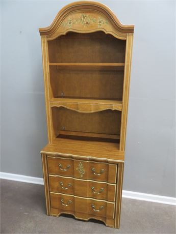 STANLEY French Provincial Bookcase Hutch