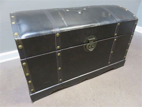 Leather Top Storage Trunk