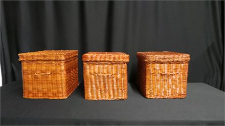 Wicker File Folder Baskets
