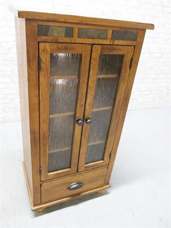 MISSION-STYLE TALL CABINET