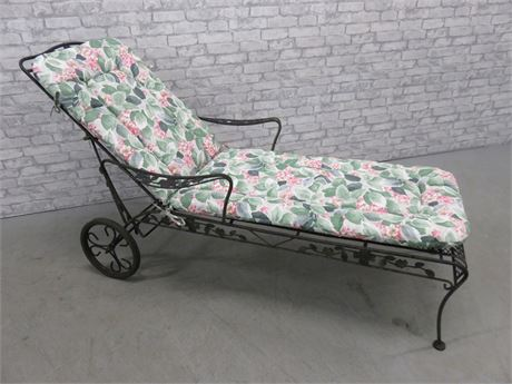 Wrought Iron Chaise Lounge Chair
