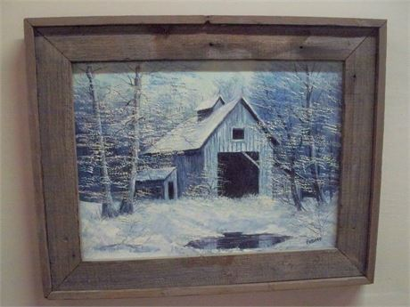 FRAMED ORIGINAL OIL ON CANVAS BY HIELENE FURLONG