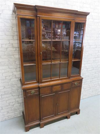 Vintage MOUNT AIRY FURNITURE CO. Mahogany China Cabinet