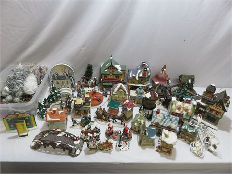 Christmas Village Collection Lot