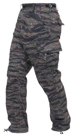 ROTHCO Tiger Stripe Camo Tactical BDU Pants - Size L