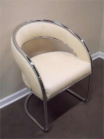 NICE MODERN STYLE SIDE CHAIR WITH CHROME FRAME