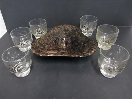 7 Piece Mid Century Modern Glass Lot