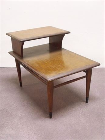 MID CENTURY 2-TIER END TABLE