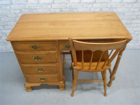 KLING SOLID MAPLE DESK WITH CHAIR
