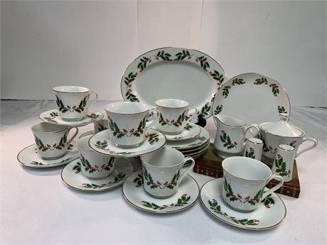 Holiday Kashima Holly Fine Porcelain  China