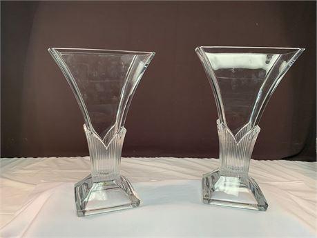 Pair of 2 Matching Mikasa Vases