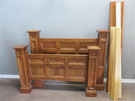 Solid Oak Queen Size Four Post Bed