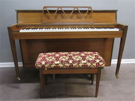 Grand Piano Co. Nancy Hart Upright Piano with Bench
