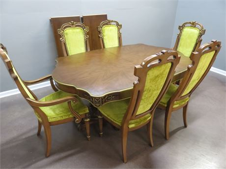UNION FURNITURE Italian Provincial Style Dining Set