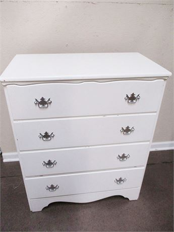 4-DRAWER WHITE DRESSER