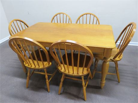 Farmhouse Oak Dinette Set