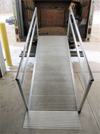 8' American Access Aluminum Wheel Chair Ramp with Rails