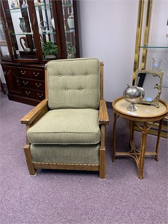 Rustic, Lodge Style Chair with Side Table