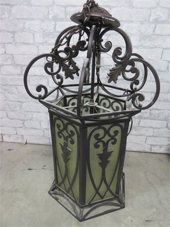 Wrought Iron 3-Light Lantern Chandelier