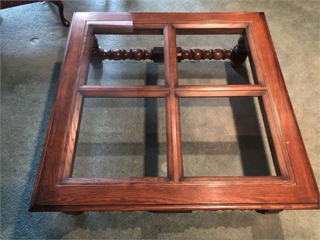 Wood & Glass Top Coffee Table