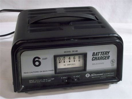 SCHUMACHER 6 AMP SOLID STATE BATTERY CHARGER